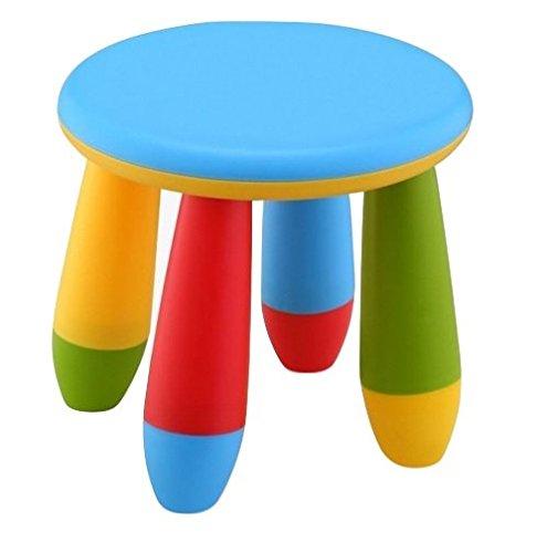 Mueblear 90055 Taburete infantil de plástico azul 28x15x26 cms