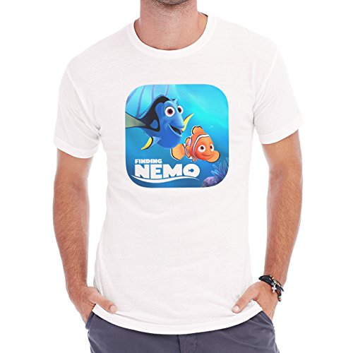 Finding Nemo Badge Herren T-Shirt Weiß