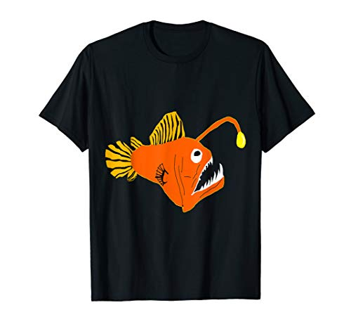 Anglerfisch Tiefsee Angler Fisch Hochsee Seeteufel T-Shirt