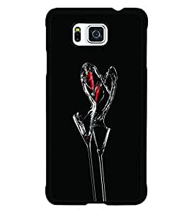 PRINTSWAG HEART Designer Back Cover Case for SAMSUNG GALAXY ALPHA