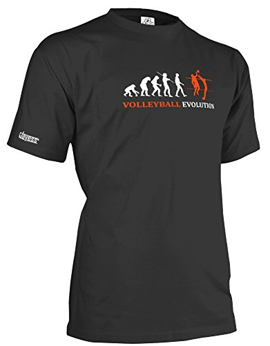 VOLLEYBALL EVOLUTION - HERREN - T-SHIRT in Schwarz by Jayess Gr. S