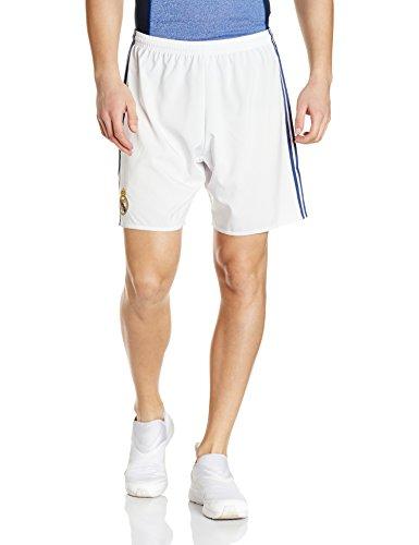 adidas Herren Real Madrid Heim Shorts, Crystal White/Raw Purple, M (Fußball-shorts-herren-real Madrid)