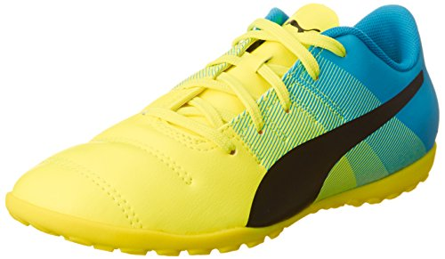 Puma - Evopower 4.3 Tt Jr, Scarpe da calcio Unisex – Bambini Gelb (safety yellow-black-atomic blue 01)