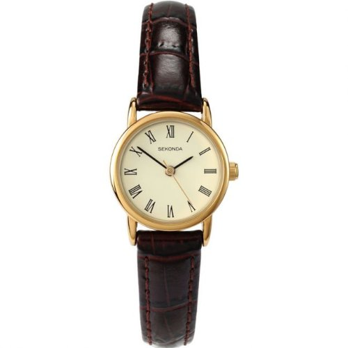 sekonda-womens-quartz-watch-with-beige-dial-analogue-display-and-red-brown-leather-strap-445827