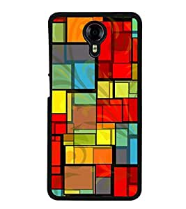 Colourful Rectangular Pattern 2D Hard Polycarbonate Designer Back Case Cover for Micromax Canvas Xpress 2 E313