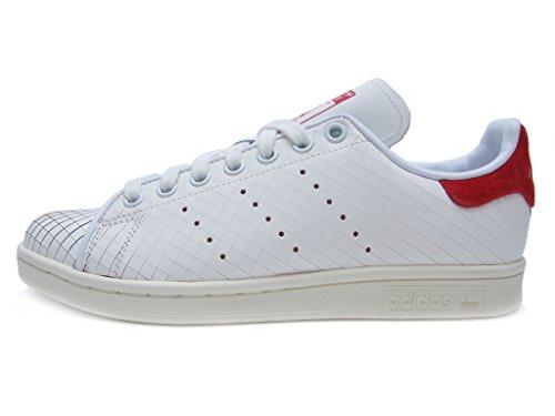 Adidas Stan Smith W Damen Synthetik Turnschuhe Weiß / Rot