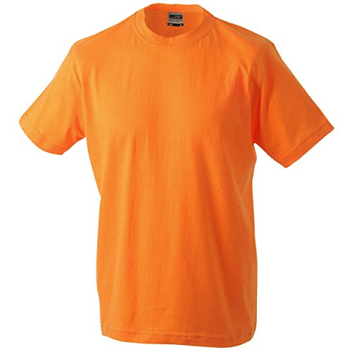 JAMES & NICHOLSON Herren T-Shirt, Einfarbig Orange - Orange