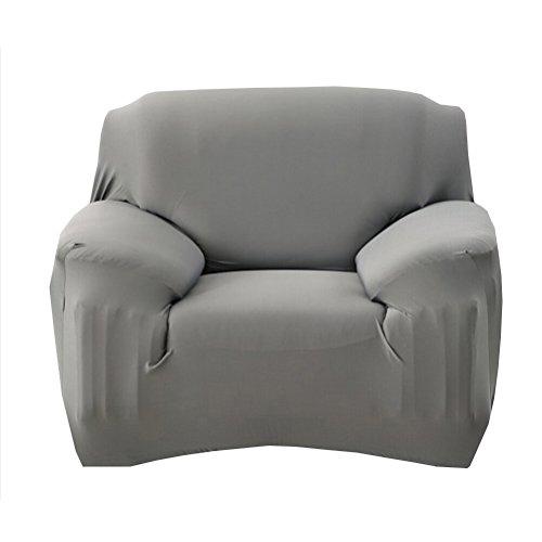 WINOMO Stretch Sofa Slipcover Einsitz Hochelastizität Anti-Milben Stuhl Abdeckungen Sofa Abdeckung Slipcover Couch für Haustier Kinder (Grau) (Sofa Stuhl)