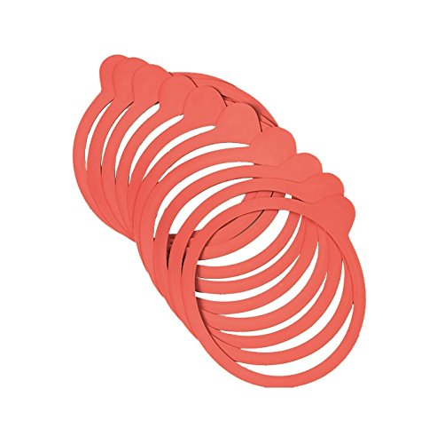 Axentia Weck Einmachgummi für Weckgläser, Silikon, Rot, 1 x 1 x 1 cm, 1 Einheiten