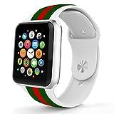Blinking Stars Bracelet de Montre Intelligente en Silicone pour Apple Watch IWatch 42...