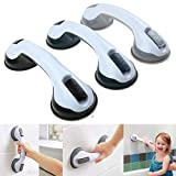 Trendi Suction Bathroom Grab Rails, Hand Rail for Disabled, Portable Mobility Aids Safety Handle with Suction Cup Fitting, No Fixings Needed for Bathroom, Children and Disability Aids (3 Pack)