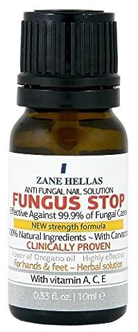 Fungus Stop. Tuer 99,9% de la mycose des ongles. Anti fongique Traitement des ongles. Les ongles des orteils et traitement ongles. 10 ml - 0,33
