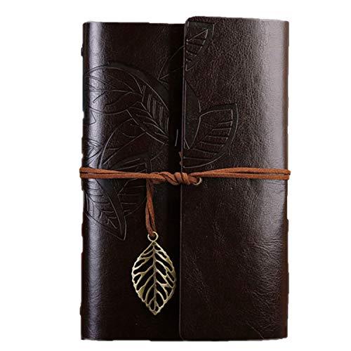 Vintage Travelers Notizbuch Tagebuch Notizblock PU Leder Spirale Literatur Notizbuch Papier Tagebuch Planer Schule Schreibwaren Geschenk Small 105x145mm coffee