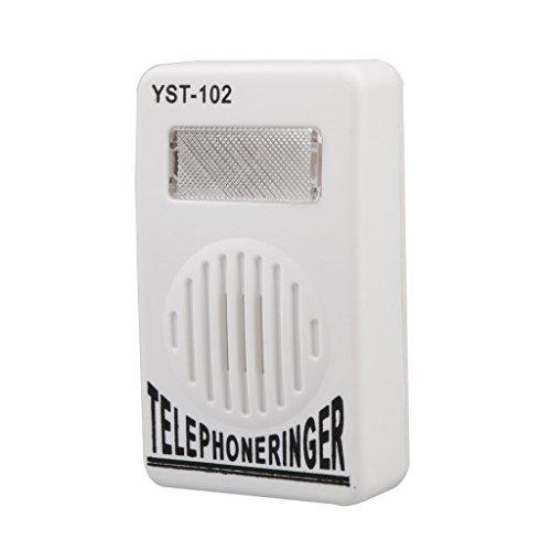 Strobe-ring-licht (Homyl Telefonklingel Telefon Wecker Telefon Ring Verstärker mit Blitzlicht ,97x60x24mm,weiß)