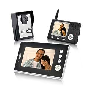 China OEM Interphone vidéo sans fil avec double récepteur et capteur CMOS