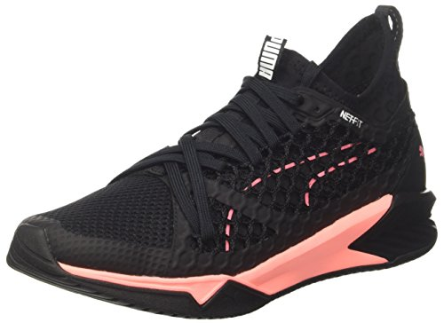 Puma Ignite XT Netfit Wn's, Zapatillas de Cross para Mujer, Negro Black-Soft Fluo Peach, 37 EU