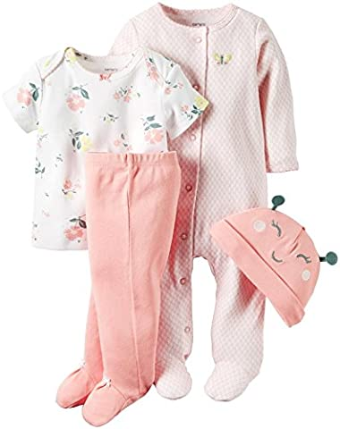 CARTER'S - Infant Baby Girl-4pc Home Coming Gift Set-First Outfit-Cotton