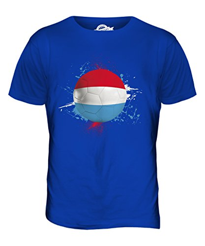 CandyMix Luxemburg Fußball Herren T Shirt Königsblau