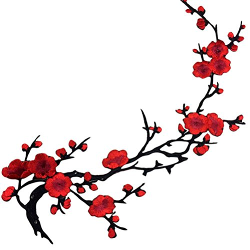 uhomey-1pcs-embroidered-plum-blossom-flower-patch-iron-sew-on-applique-motif-craft