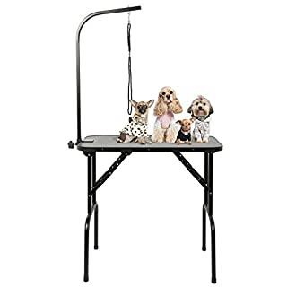 AllRight Folding Dog Pet Grooming Table Portable Adjustable With Arm Noose