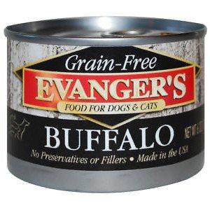 Evanger's Grain Free Buffalo - 24x6 oz by Evangers