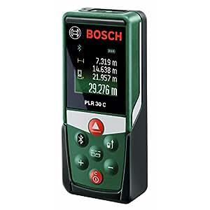 Bosch Télémètre Laser Connecté PLR 30 C Connexion Bluetooth, Portée 30 m 0603672100