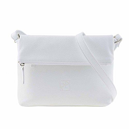borsa a tracolla in pelle Bianco