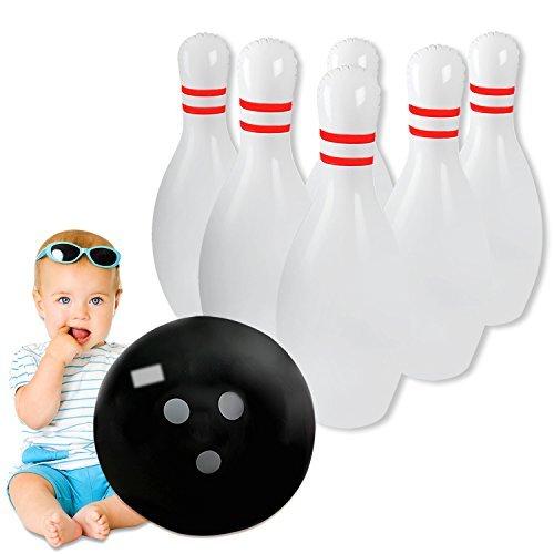 r aufblasbarer Bowling für Kinder & Erwachsene, One 45,7cm Ball mit sechs 61cm Pins ()