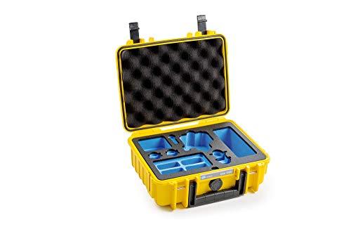 B&W outdoor.cases Typ 1000 mit DJI Osmo Action Inlay Koffer (4 ND Filter, 8 Akkus, 3fach-Ladeschale)
