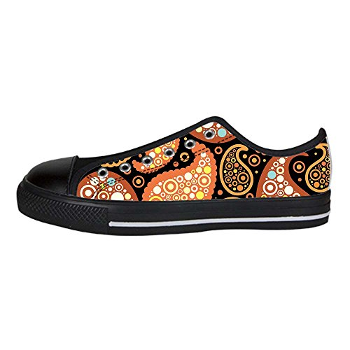 Dalliy Farbige Paisley-Print Men's Canvas shoes Schuhe Lace-up High-top Sneakers Segeltuchschuhe Leinwand-Schuh-Turnschuhe (Turnschuhe Leinwand Wei)