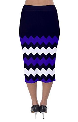 CowCow - Jupe - Femme Bleu Bleu acier Indigo and Purple
