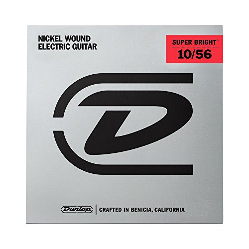 Dunlop desbn1056Medium Super Bright Nickel Gitarre Saite Kit (7Stück) (7-string Electric Guitar Kit)