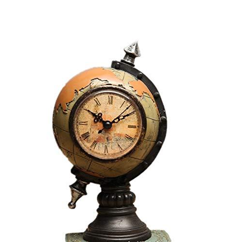 Baoffs World Globe Heimwerkerdekor Retro Kreative Erde Mit Uhren Und Uhren Dekoration Weinschrank Fenster Dekoration Handwerk Wohnaccessoires Pädagogisches Geschenk für Kinder Kinder