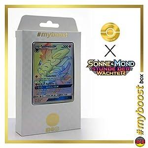 Feelinara-GX (Sylveon-GX) 158/145 Arcoíris Secreta - #myboost X Sonne & Mond 2 Stunde Der Wachter - Box de 10 Cartas Pokémon Aleman