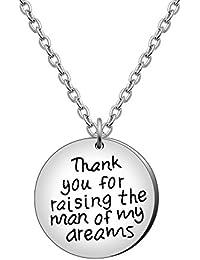 bef05b0461079 AGR8T Familie Halskette Mutter in Gesetz Geschenk Frauen Jewelry Thank You  for Raising The Man of My…
