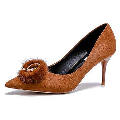SANMULYH Chaussures Pour Femmes Bottes Confort Hiver Pu Talon Bout Rond Chaussures Orteil Fermé/Boots For Casual Rouge Noir,Rouge,Us6/Eu36/Uk4/Cn36