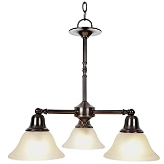 AF Lighting 617237 22-Inch W by 20-Inch H Sonoma Decorative Vanity Fixtures 3 Light Chandelier, Oil Rubbed Bronze by AF Lighting