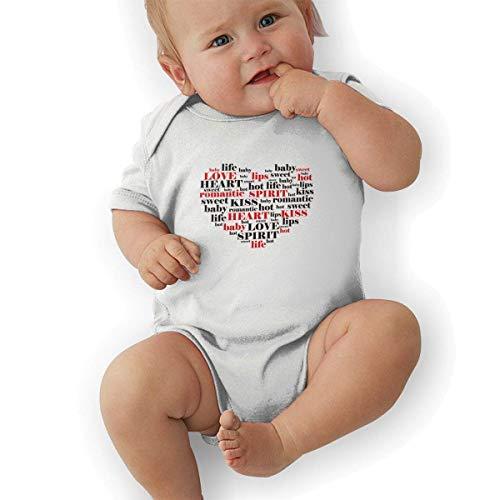 Bodys & Einteiler,Babybekleidung, Baby one-Piece Suit,Baby Jumper,Pajamas, Infant Baby Girl's Bodysuit Short-Sleeve Onesie Valentine's Day Print Outfit Autumn Pajamas Valentine Infant Bodysuit