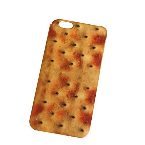 HSNZZPP Kohl Instant-Nudeln Wassermelone Lachs Schweinefleisch Kekse Mode 5s Handy Shell Persönlichkeit Iphone6s Telefon Shell 6Plus Harte Schale,Biscuits-iPhone