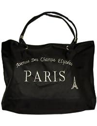 Souvenirs de France - Grand Sac Paris Champs Elysées - Couleur : Noir