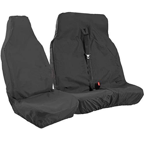 Zelte Autositzbezüge, Autositzbezüge vorne/hinten, Set bestehend aus universell wasserdicht, strapazierfähig, schwarz, Set mit 2,1,6 x 1,8 ft -