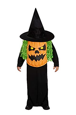 Children's Halloween Jumbo Pumpkin Head Face Fancy Dress Costume-7-9 Years