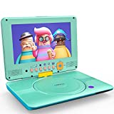 """COOAU Portable DVD Player Upgraded 12"""" with HD Swivel Screen, Support All Region"""