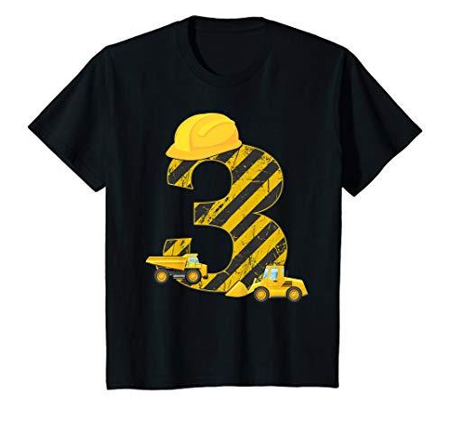Kinder Bagger 3. Geburtstag T-Shirt Jungen 3 Jahre Shirt Baustelle (Der Dritte Geburtstag Kostüm)