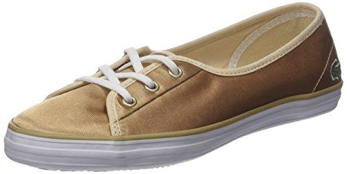 Lacoste Damen Ziane Chunky 118 2 Caw Sneaker, Gold (or Gld/WHT), 40.5 EU