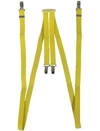 Bretelles fines 1,5 cm Skin/Mod/Punk jaune