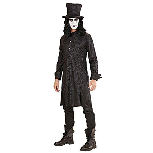Raven Lord Kostüm - Amakando Vampir Mantel mit Hut Halloween Kostüm Raven XL 54 Halloweenkostüm Lord GRAF Vampirkostüm Herren Horror Verkleidung Rabe Gothic Kleidung