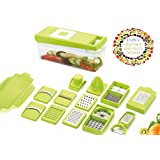 Vivir 15 in 1 Fruits and Vegetable Chopper for Kitchen (Green)