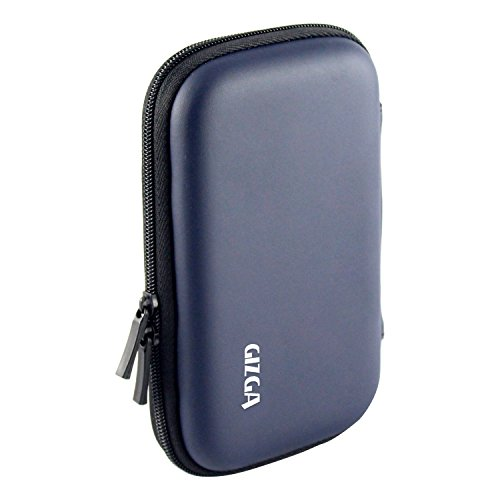 GIZGA Branded 2.5 inch HARD SHELL - Color: Dark Blue; Series External Portable Hard Disk Drive Carry Cover Protector/ Pouch / Bag/ HDD Case