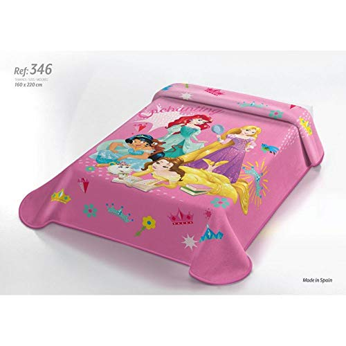 OEKO-TEX Manta Terciopelo Disney Modelo: Princesas